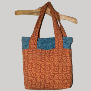 Shopping bag printed heavy cotton with poplin cotton lining