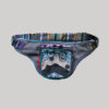 Garments mix printed patches belt pouch