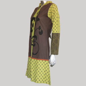 Women's Garments hand loom flower printed Dress