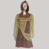 Women's Garments hand loomed pointed hoodie Dress
