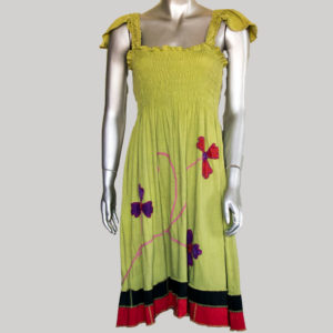 Women's Garments sleeveless flower hand work Dress