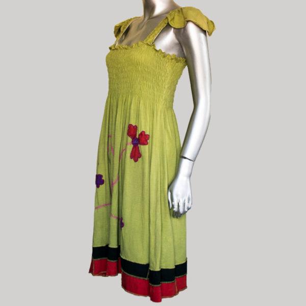 Women's Garments sleeveless flower hand work Dress