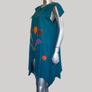 Women's Garments pix-elated Balloon hand work Dress