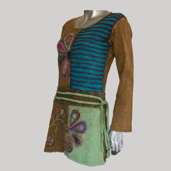 Women's Garments Symmetrical razor patched Dress