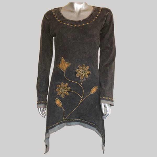 Women's Garments flower Hand worked Dress