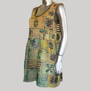 Women's block printed sleeveless Dress