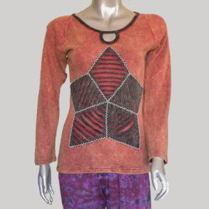 Women's star motif razor T-shirt