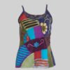 Women's Garments asymmetrical razor flower Tank Top