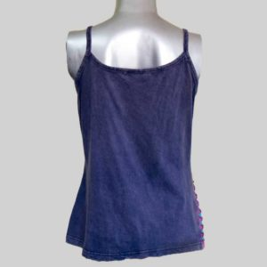Women's Garments asymmetrical razor flower Tank Top