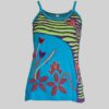 Women's Garments flower hand worked razor Tank Top