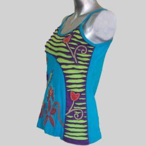 Women's Garments flower hand worked razor Tank Top