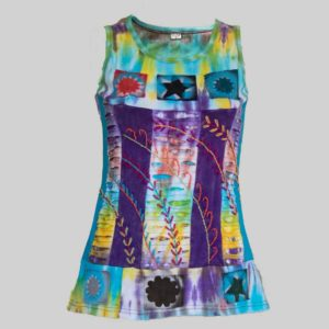 Women's Garments ti-dye hand work Tank Top