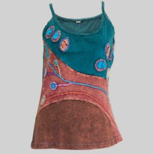 Flower hand worked Women;s Garments Tank Top