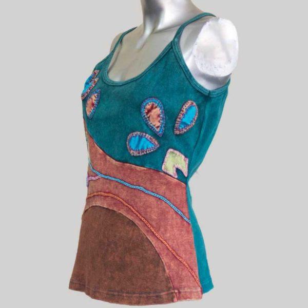 Flower hand worked Women;s Garments Tank Top