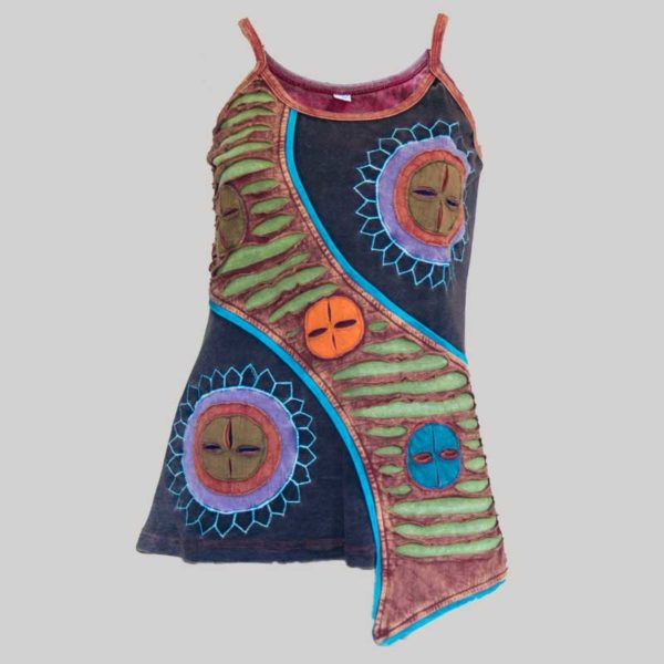 Women's Garments symmetrical razor hand work Tank Top