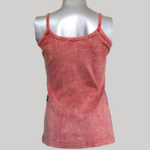 Women's multi color patches razor rib Tank Top