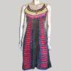 Women's symmetrical razor Thanka Dress