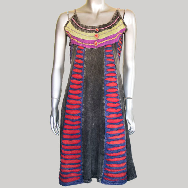 Women's symmetrical razor Thanka Dress