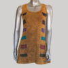 Women's garments symmetrical cut out hand work tank top