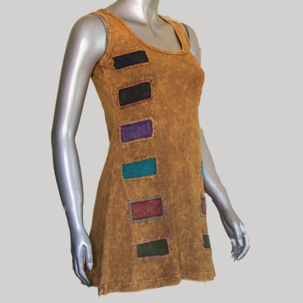Women's garments symmetrical cut out hand work tank top