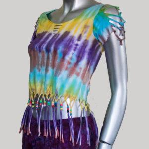 Women's Garments symmetrical razor Fringes Tank Top