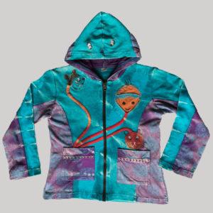Children's cartoon mix patches hand work Jacket