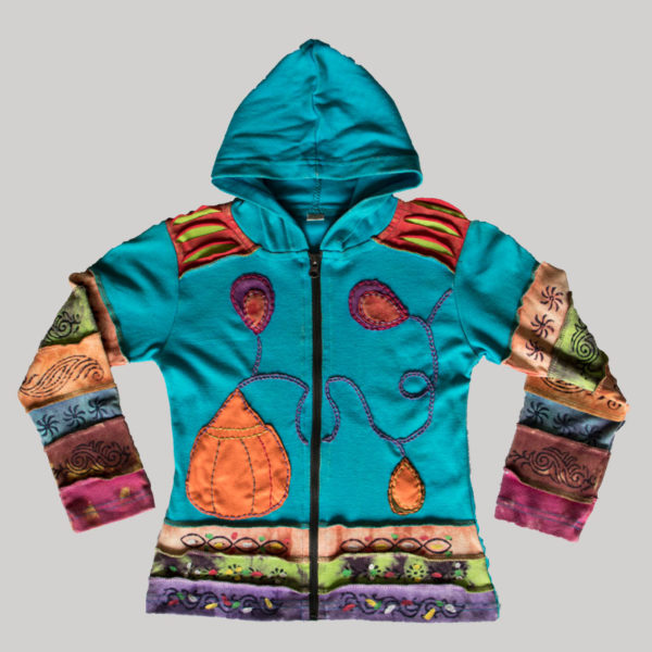 Children's patched hand work Jacket