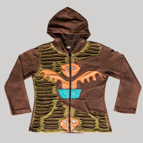 Children's symmetrical razor embroidery Jacket