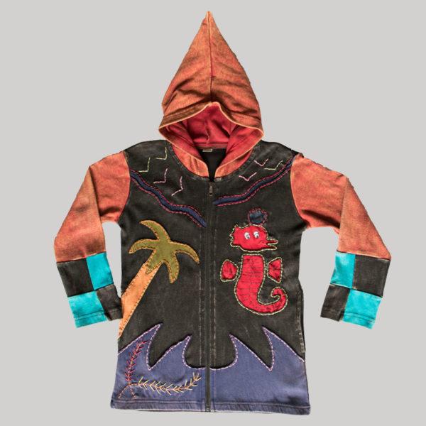 Children's multi patches hand work Jacket
