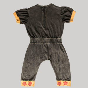 Children's cartoon motif stitched Jump Suit