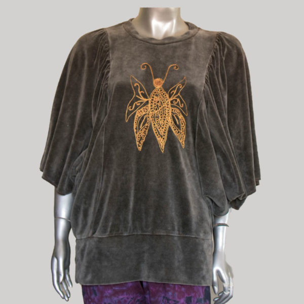Garments loose T-shirt with butterfly RE