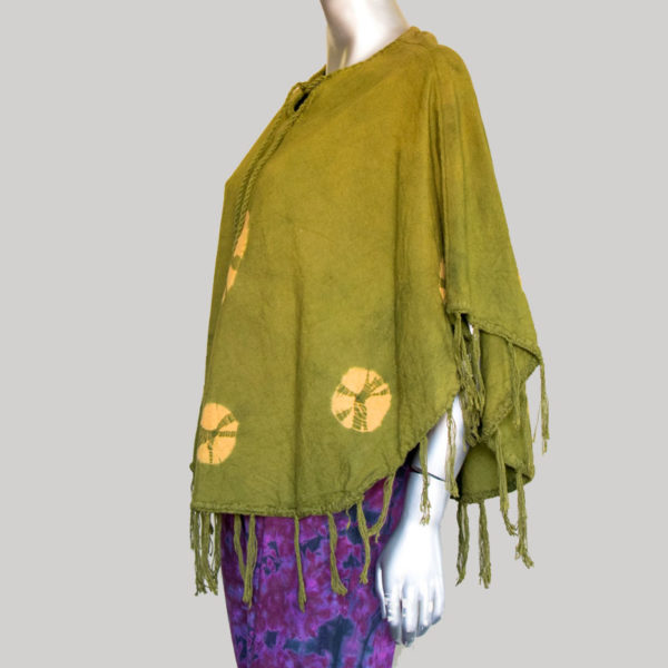 Women's Garments Hand loom ti-die Panchu