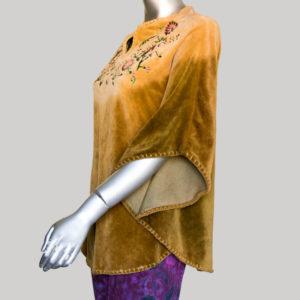 Women's velvet shaded ti-die Panchu