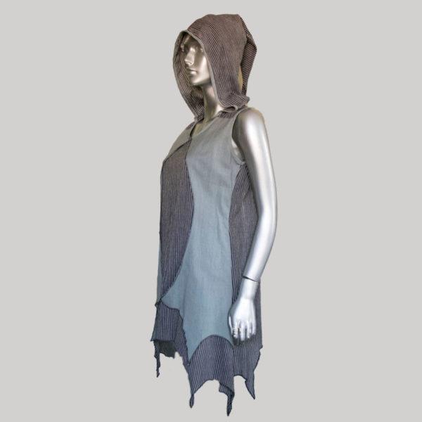 Women's Garments Hand loom vertical stripe dress