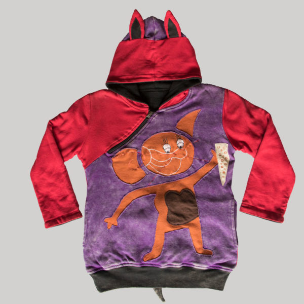 Children's rat design polar hand work Hoodie