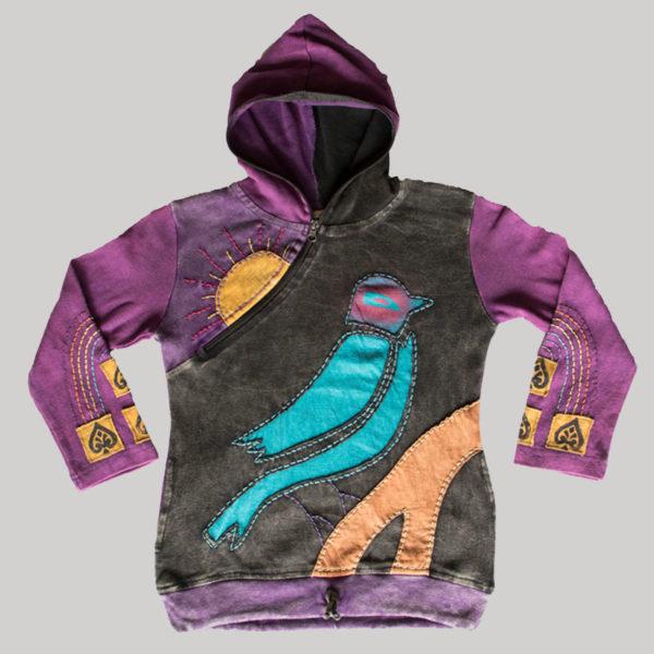 Children's Bird Hand work Hoodie