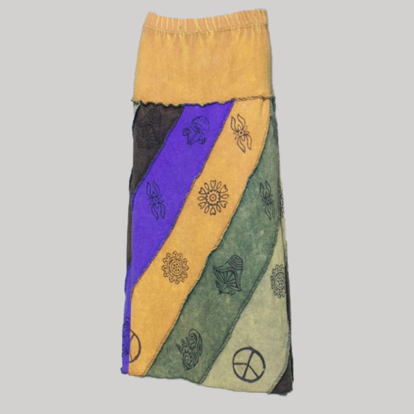 Women's midi wrap knitted block print Skirt