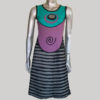 Women's symmetrical razor cut out Tank dress