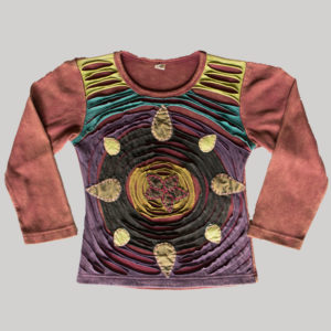 Children's rounded razor hand work T-shirt