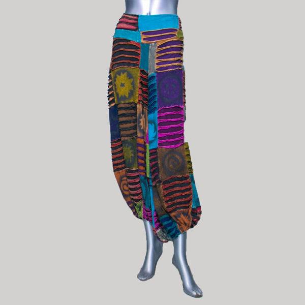 Women's garments block patches razor trouser