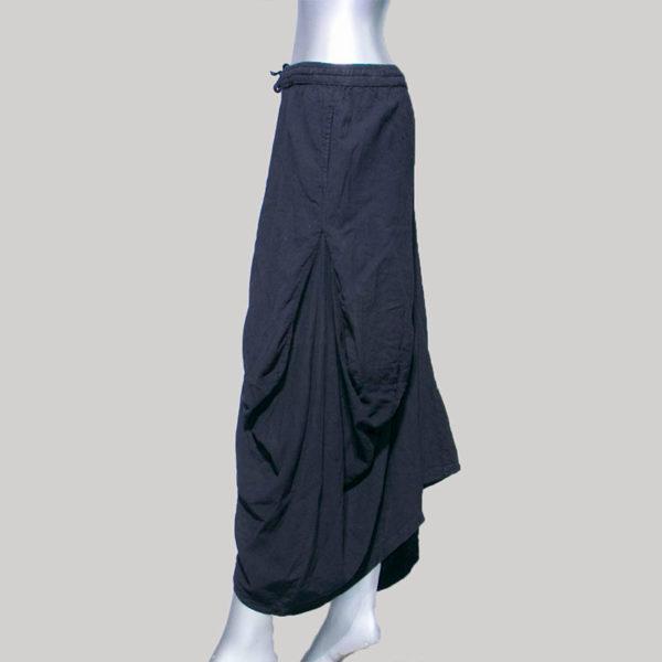 Women's Asymmetrical Garter hand loom trouser