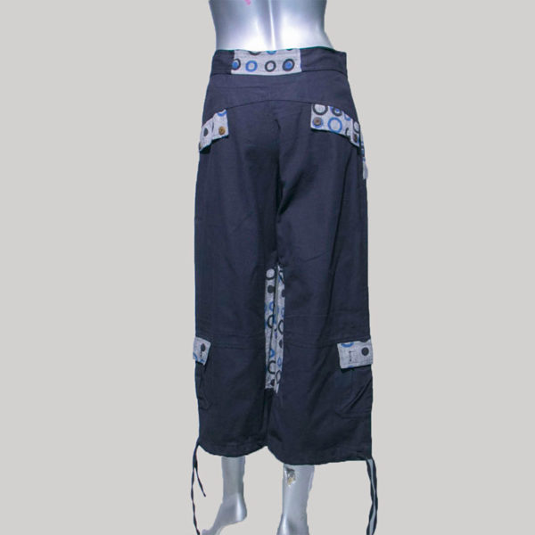 Women's Garments Hand loom trouser with printed patches