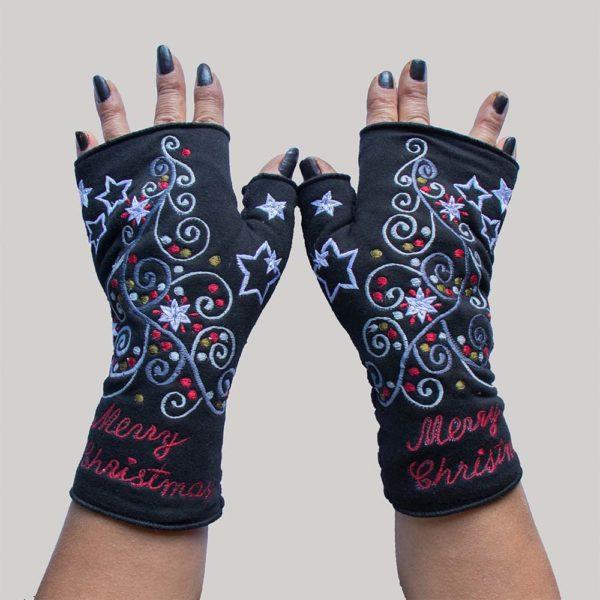 Christmas Gloves Black