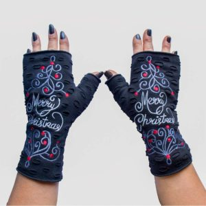 christmas Gloves Black