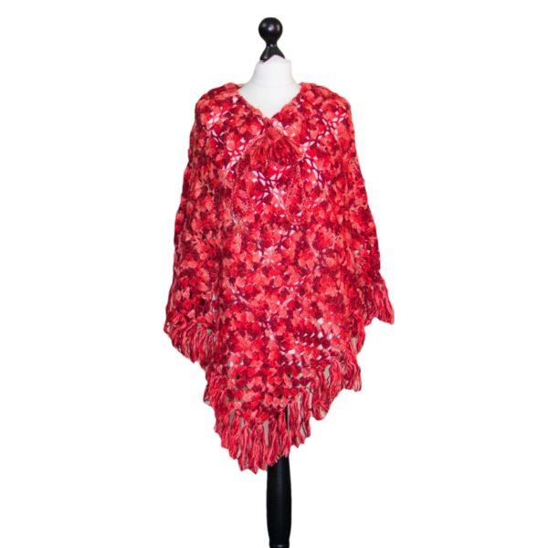 woolen crochet hand maid woolen poncho.